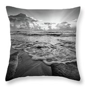 Gentle Surf Throw Pillow