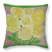 Gentle Yellow Bouquet Throw Pillow