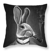 Gentleman With A Pipe Throw Pillow