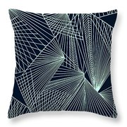 Geometric Pattern 1-colour-6 Throw Pillow