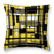 Geometric Stylization 3 Throw Pillow