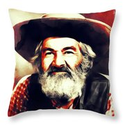George Gabby Hayes, Vintage Actor Throw Pillow