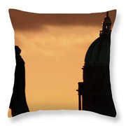 George Iv And Wrh Throw Pillow