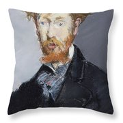 George Moore        Throw Pillow