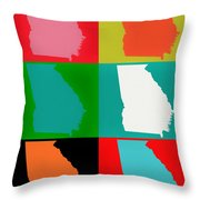 Georgia Pop Art Throw Pillow