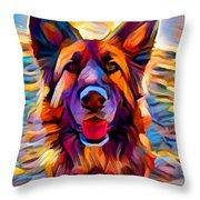 German Shepherd 8 Throw Pillow