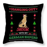 German Shepherd Ugly Christmas Sweater Xmas Gift Throw Pillow