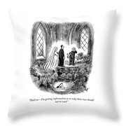 Getting Information Throw Pillow
