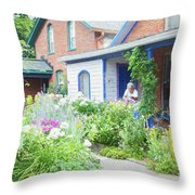 Getting Ready For Buffalo's Garden Walk 2019 Throw Pillow
