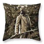 Gettysburg Battlefield - John Burns Throw Pillow
