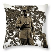 Gettysburg Battlefield - Maj. Gen. John Buford Throw Pillow