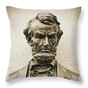 Gettysburg Battlefield - President Abraham Lincoln Throw Pillow