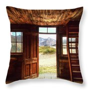 Ghost Town Cabin Throw Pillow