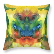 Ghost - Watercolor Painting On Paper Throw Pillow