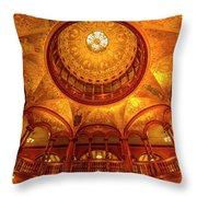 Gilded Age, Flagler College Rotunda, Saint Augustine, Florida Throw Pillow