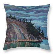 Gitchi-gami Cove Cliff Throw Pillow
