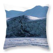 Glacier Cracked Under Pressure Throw Pillow