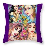 Glamorous India Throw Pillow