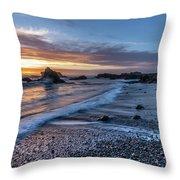 Glass Beach Sunset Throw Pillow