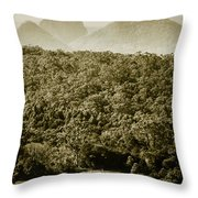 Glass House Mountains Throw Pillow