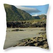 Glassilaun Beach Connemara Throw Pillow