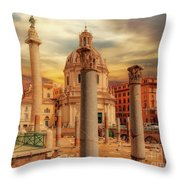 Glories Past And Present,  Rome Throw Pillow