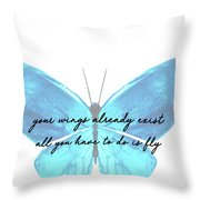 Go Fly Quote Throw Pillow