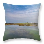 Goat Island Distant View Maine Throw Pillow