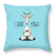 Goat Yoga - Meditating Goat Throw Pillow