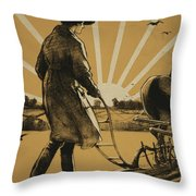 God Speed The Plough And The Woman Who Drives It Throw Pillow