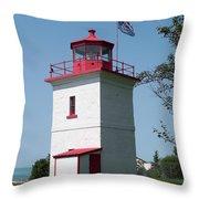 Goderich Lighthouse Throw Pillow