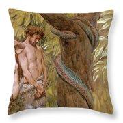 Gods Curse, Adam And Eve Throw Pillow