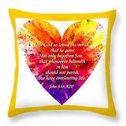 God's Heart Throw Pillow
