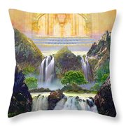 God's Holy Hill Throw Pillow
