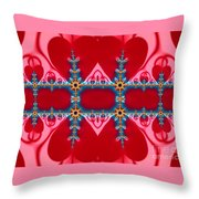 Gods Love And Mercy Is Infinite Fractal Abstract Hearts Throw Pillow by Rose Santuci-Sofranko