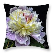 God's Perfection In A Festiva Maxima Peony Throw Pillow