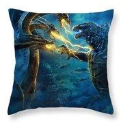 Godzilla II Rei Dos Monstros Throw Pillow