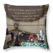 Gogarty And Joyce Statues One Throw Pillow