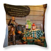 Gogarty And Joyce Statues Two Throw Pillow