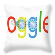 Goggles Logo Throw Pillow