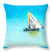Going For Fish Throw Pillow