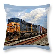 Going On A Train Ride Throw Pillow