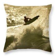 Gold Blast  Throw Pillow