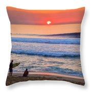 Gold Cup Sunset Throw Pillow