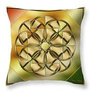 Gold Design 24 Throw Pillow