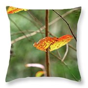 Gold Leaves And Branches Throw Pillow