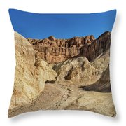 Golden Canyon's Red Cathedral Throw Pillow