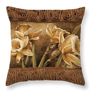 Golden Daffodils I    Throw Pillow