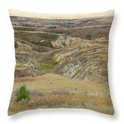 Golden Dakota Prairie Reverie Throw Pillow