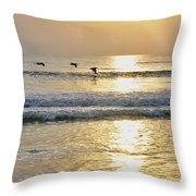 Golden Daybreak Throw Pillow